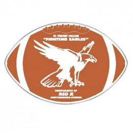 Football Car Magnet Promotional Custom Imprinted With Logo