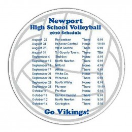 Volleyball Car Magnet Promotional Custom Imprinted With Logo