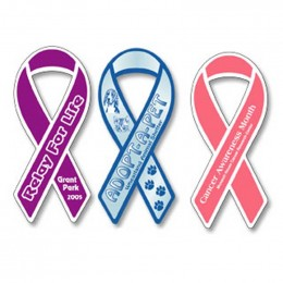 Large Ribbon Bumper Sticker Magnet Promotional Custom Imprinted With Logo