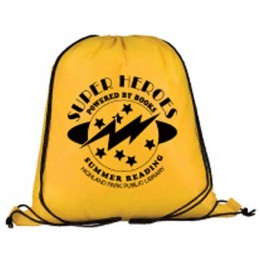 Draw String Back Pack Promotional Custom Imprinted With Logo