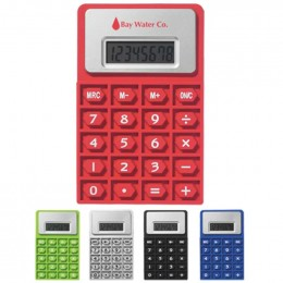 Flexi Calculator Promotional Custom Imprinted With Logo