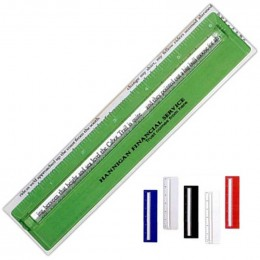 Plastic 6 in. Ruler with Magnifying Glass Promotional Custom Imprinted With Logo