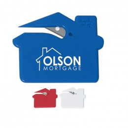 House Shape Slitter Promotional Custom Imprinted With Logo