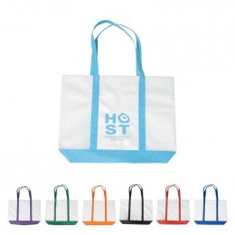 Non-Woven Tote Bag With Trim Colors Promotional Custom Imprinted With Logo