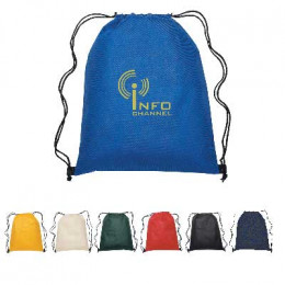 Non-Woven Drawstring Sports Pack Promotional Custom Imprinted With Logo