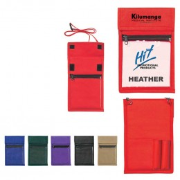 Non-Woven Neck Wallet Badgeholder Promotional Custom Imprinted With Logo