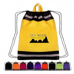 Large Non-Woven Reflective Sports Pack Promotional Custom Imprinted With Logo