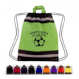 Small Non-Woven Reflective Sports Pack Promotional Custom Imprinted With Logo