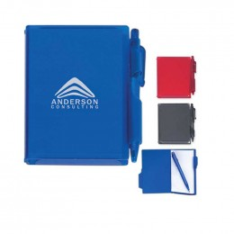 Memo Notebook with Pen Promotional Custom Imprinted With Logo