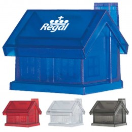 Plastic House Shape Bank Promotional Custom Imprinted With Logo