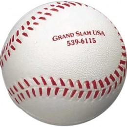 Baseball Stress Toy Promotional Custom Imprinted With Logo