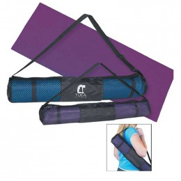 PVC Yoga Mat and Carrying Case Promotional Custom Imprinted With Logo