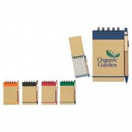 Eco-Friendly Spiral Jotter & Pen Promotional Custom Imprinted With Logo