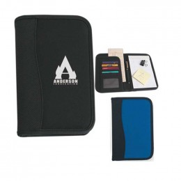 Small Microfiber Portfolio with Embossed PVC Trim Custom Imprinted With Logo