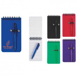 Spiral Jotter & Pen Promotional Custom Imprinted With Logo