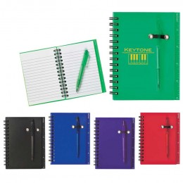 Spiral Notebook & Pen Promotional Custom Imprinted With Logo