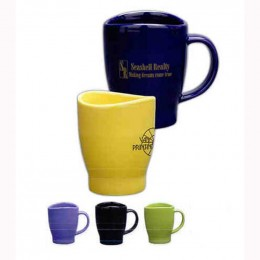 14 Oz Wave Mug - Colors Promotional Custom Imprinted With Logo