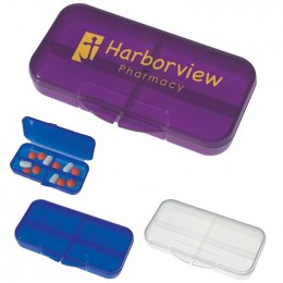 Rectangular Shape Pill Holder Promotional Custom Imprinted With Logo