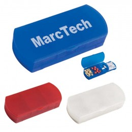 Pill Box/Bandage Dispenser Promotional Custom Imprinted With Logo