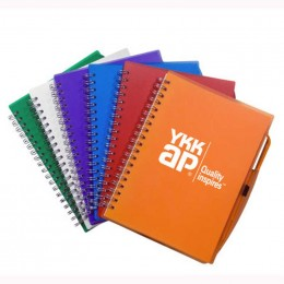 Spiral Notebook with Pen Promotional Custom Imprinted With Logo