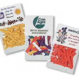 Seed Confetti Pack Promotional Custom Imprinted With Logo