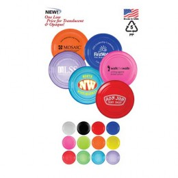 "9"" Flying Disk in Opaque & Translucent Colors Promotional Custom Imprinted"