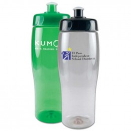 24 oz Translucent Contour Bottle Promotional Custom Imprinted With Logo