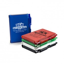 Hard Cover Notepad with Pen Promotional Custom Imprinted With Logo