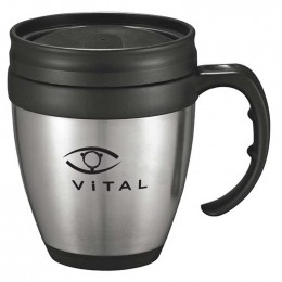 Java Desk Mug Promotional Custom Imprinted With Logo