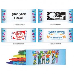 4 Pack Quality Crayons Promotional Custom Imprinted With Logo