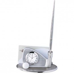 Golf Club Clock Business Card Holder Promotional Custom Imprinted With Logo