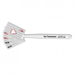 Medium 4 Aces Fly Swatter with Colored Suits Promotional Custom Imprinted With Logo