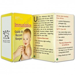 Immunization Guide & Record Keeper Promotional Custom Imprinted With Logo