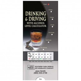 Pocket Slider: Drinking & Driving Promotional Custom Imprinted With Logo