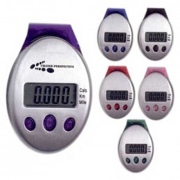 Deluxe Multi-Function Pedometer Promotional Custom Imprinted With Logo