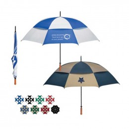 68 Arc Vented Windproof Umbrella Promotional Custom Imprinted With Logo