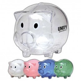 Plastic Piggy Bank Promotional Custom Imprinted With Logo
