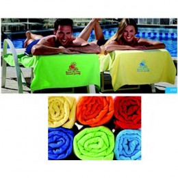 Embroidered  Colored Beach Towel Promotional Custom Imprinted With Logo