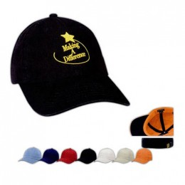 Washed Chino Cap - Heat Transfer Imprint Promotional Custom Imprinted With Logo