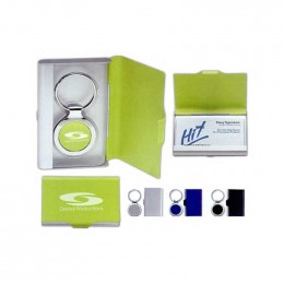 2 in 1 Key/Tag Business Card Holder Promotional Custom Imprinted With Logo