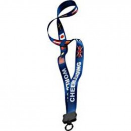 3/4 in. Dye-Sublimated Multicolor Lanyard with O-ring