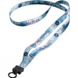 1/2 in. Multicolor Lanyard with O-ring Promotional Custom