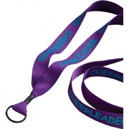 3/4 in. Economy Polyester Lanyard with Split-ring Custom Imprinted With Logo