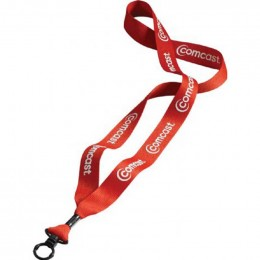 3/4 in. Economy Polyester Lanyard with O-ring Promotional Custom Imprinted Logo