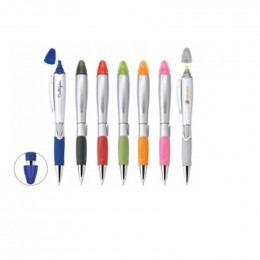 Silver Blossom Pen/Highlighter Promotional Custom Imprinted With Logo