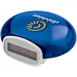 Translucent Solar Bubble Pedometer Promotional Custom Imprinted With Logo
