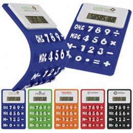Flexible Colorful Calculator Promotional Custom Imprinted With Logo