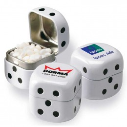 Dice Tin Promotional Custom Imprinted With Logo