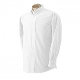 Van Heusen Long-Sleeve Wrinkle-Resistant Oxford - White