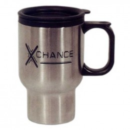 16 oz Stainless Steel Travel Mug with Sip-Thru Lid